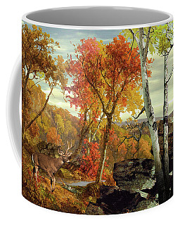 White-tailed Deer In The Poconos Coffee Mug