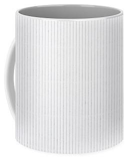 White Texture Striped Carton Abstract Coffee Mug