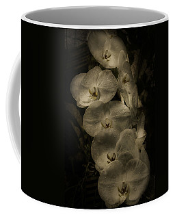 Coffee Mug featuring the photograph White Textured Flowers by Ryan Photography