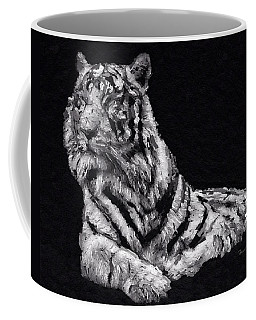 Coffee Mug featuring the painting White Tiger by Mark Taylor