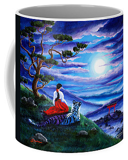 White Tiger Meditation Coffee Mug