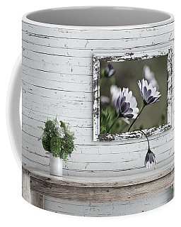 Coffee Mug featuring the photograph White Timber Cottage By Kaye Menner by Kaye Menner