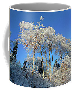 Coffee Mug featuring the photograph White Trees Clear Skies by Rockin Docks