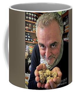 White Truffle Gold Coffee Mug by Jennie Breeze