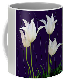 White Tulips For A New Age Coffee Mug