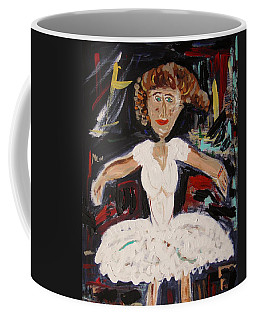 White Tutu Coffee Mug by Mary Carol Williams