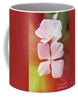 White Vinca With Vivid Highligts  Coffee Mug