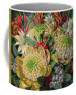 White Waratahs Flannel Flowers And Kangaroo Paws Coffee Mug
