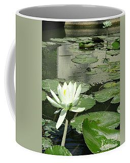 Coffee Mug featuring the photograph White Water Lily 3 by Randall Weidner