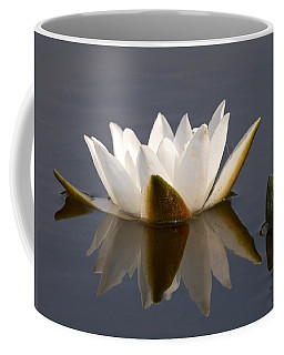 Coffee Mug featuring the photograph White Waterlily 2 by Jouko Lehto