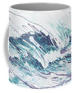 White Wave Abstract Coffee Mug