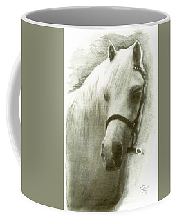 White Welsh Pony Coffee Mug