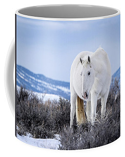 White Wild Horse Mystic Of Sand Wash Basin Coffee Mug