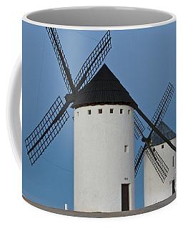 Coffee Mug featuring the photograph White Windmills by Heiko Koehrer-Wagner