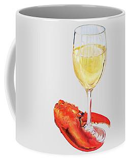 White Wine And Lobster Claw Coffee Mug