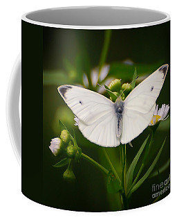 White Wings Of Wonder Coffee Mug by Kerri Farley