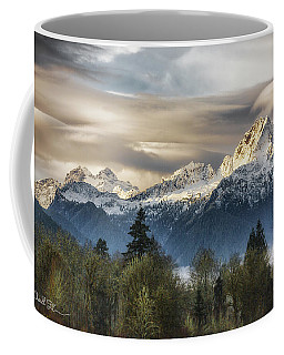 Whitehorse Sunrise, Flowing Clouds Coffee Mug