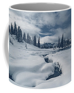 Coffee Mug featuring the photograph Whiteout by Gene Garnace