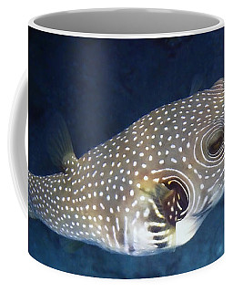 Whitespotted Pufferfish Closeup Coffee Mug