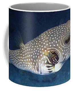 Whitespotted Pufferfish Closeup Coffee Mug