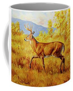 Whitetail Deer In Aspen Woods Coffee Mug