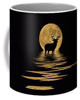 Whitetail Deer In The Moonlight Coffee Mug