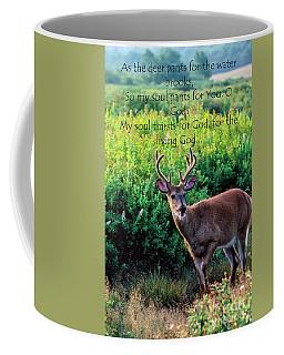 Whitetail Deer Panting Coffee Mug