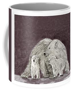 Coffee Mug featuring the painting Polar Bear Family by Jack Pumphrey