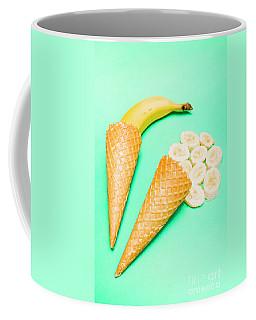 Whole Bannana And Slices Placed In Ice Cream Cone Coffee Mug