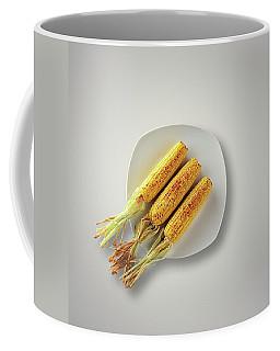 Whole Grilled Corn On A Plate Coffee Mug