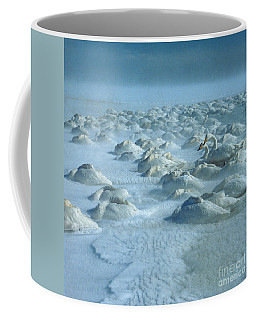 Whooper Swans In Snow Coffee Mug