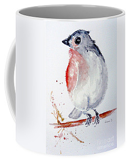 Coffee Mug featuring the painting Who's There ? by Jasna Dragun