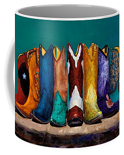 Why Real Men Want To Be Cowboys 2 Coffee Mug by Frances Marino