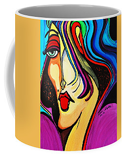 Coffee Mug featuring the painting Wicked Witch by Nora Shepley