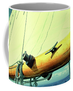 Wide Sail Blue Horizon Digital Watercolor Edition Coffee Mug