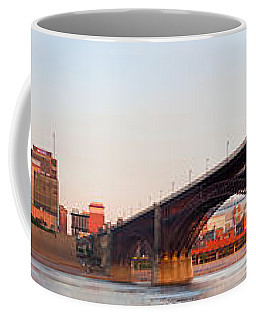 Wide View Of St Louis And Eads Bridge Coffee Mug