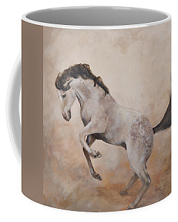 Coffee Mug featuring the painting Wild by Alan Lakin