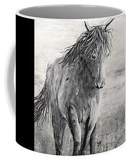 Wild And Free Gray Scale Coffee Mug