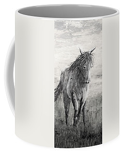 Wild And Free Gray Scale Coffee Mug