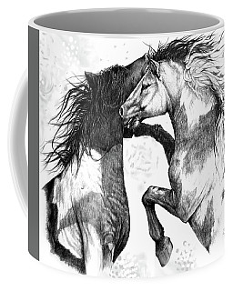 Coffee Mug featuring the drawing Wild And Free by Heidi Kriel
