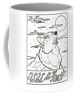Coffee Mug featuring the drawing Wild At Heart by Wendy Coulson
