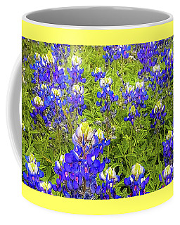 Coffee Mug featuring the photograph Wild Bluebonnet Flowers by D Davila