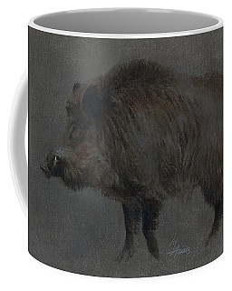 Wild Boar In Winter Coat Coffee Mug