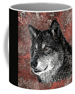 Wild Dark Wolf Coffee Mug
