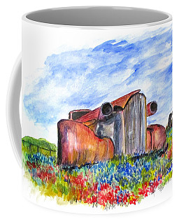 Wild Flower Junk Car Coffee Mug