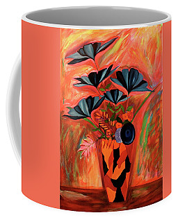 Coffee Mug featuring the painting Wild Flowers  A Still Life  by Iconic Images Art Gallery David Pucciarelli