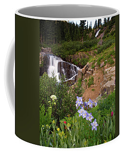 Wild Flowers And Waterfalls Coffee Mug by Steve Stuller