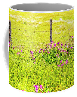 Wild Flowers  By The  Fence Coffee Mug