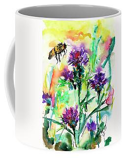 Wild Flowers Thistles And Bees Coffee Mug