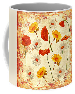 Wild Flowers Vintage Coffee Mug
